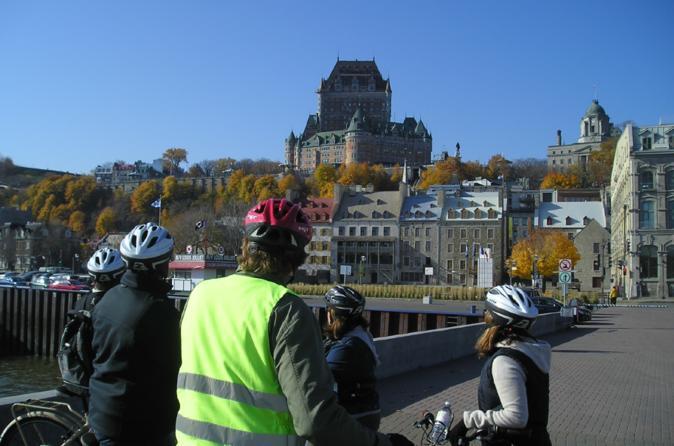 Excursão de bicicleta na Cidade Baixa histórica de Quebec