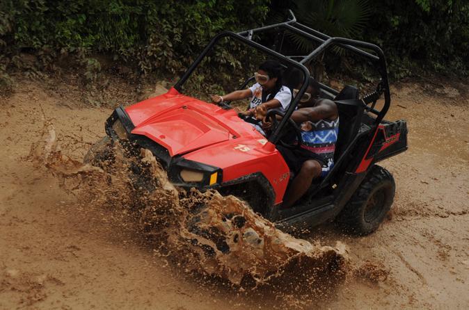 Playa del Carmen Combo Tour: Off-Road Buggy, Aerial Bridges and Zipline Adventure