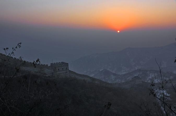 Sunrise on Great Wall of China MuTianYu Day Tour by Taxi with English Cab Driver