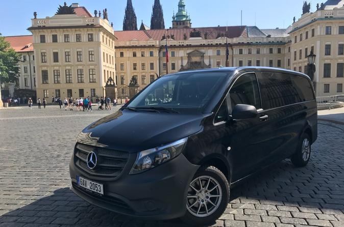 Private Mini Coach Transfer from Prague to Ceske Budejovice for up to 8 people