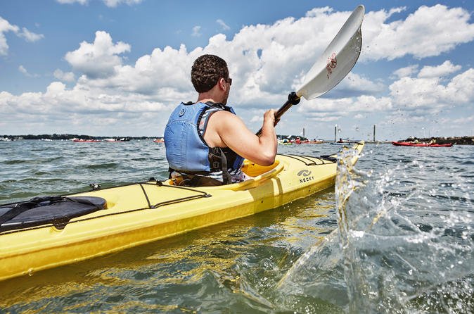 Casco bay half day sea kayak tour in portland 446054