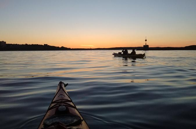 Sunset sea kayak tour of casco bay in portland 294801