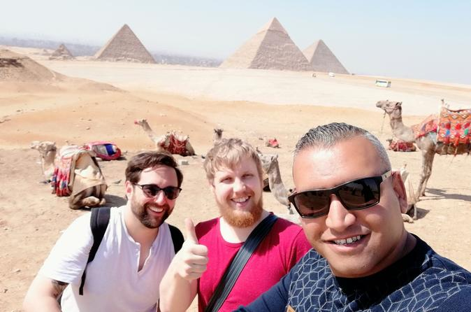 Giza pyramids and Saqqara
