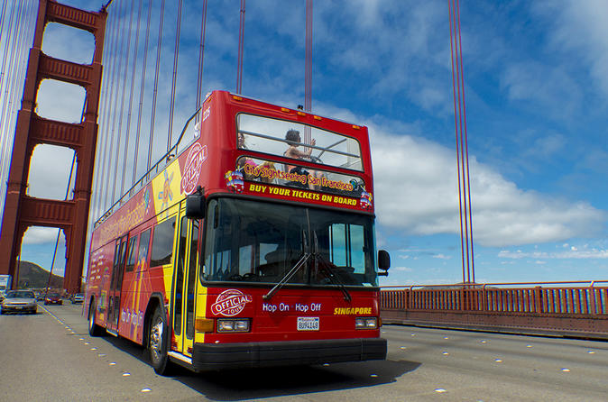 City and Sea Adventure: 1 Day Hop-On Hop Off Pass and San Francisco Bay Cruise