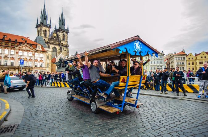 Beer Bike Tour All You Can Drink In Prague's Historic Old Town Up To 17 People