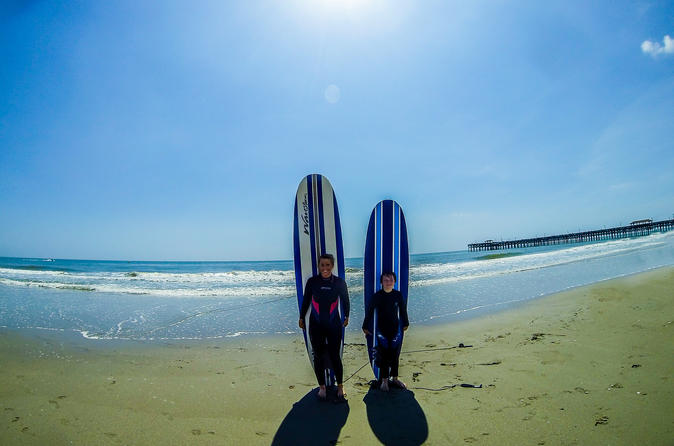 2 hour surf lesson for two people in myrtle beach 185239