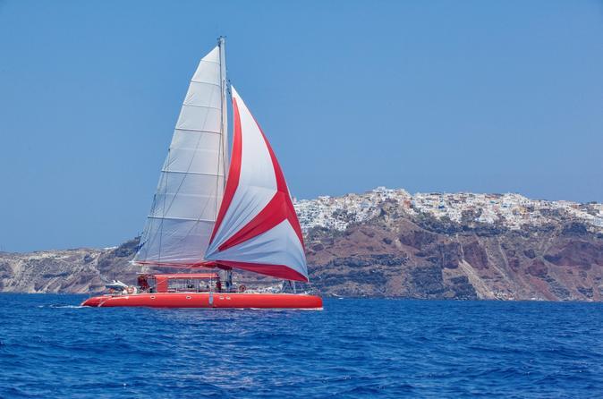 Ocean Voyager 74 Sailing in Santorini Day