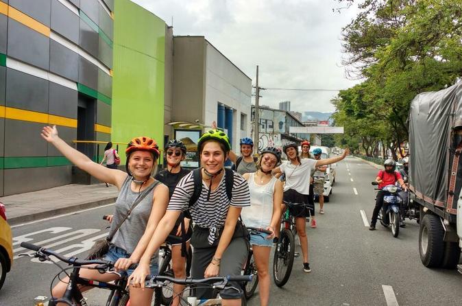Enjoy Medellin as a local riding a bike