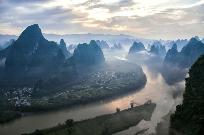 One Day Panoramic Li River Hiking from Xianggongshan to Yangdi(Daqiaotou)