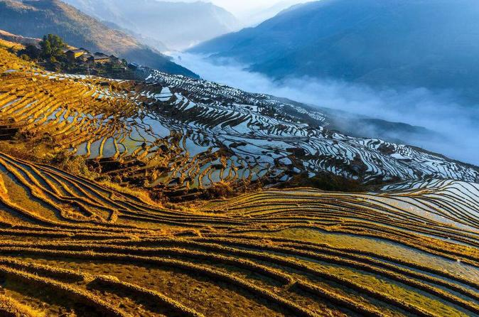 One Day Private Rice Terrace & Minority Village Hiking from Longji to Pingan