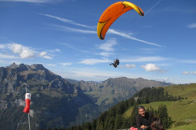 Lucerne Engelberg Tandem Paragliding Tour with Instruction in United