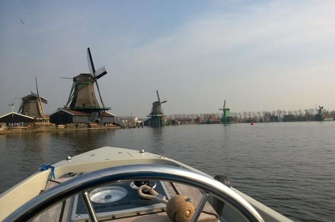 Half-Day Open Boat Rental in Zaandam from Amsterdam