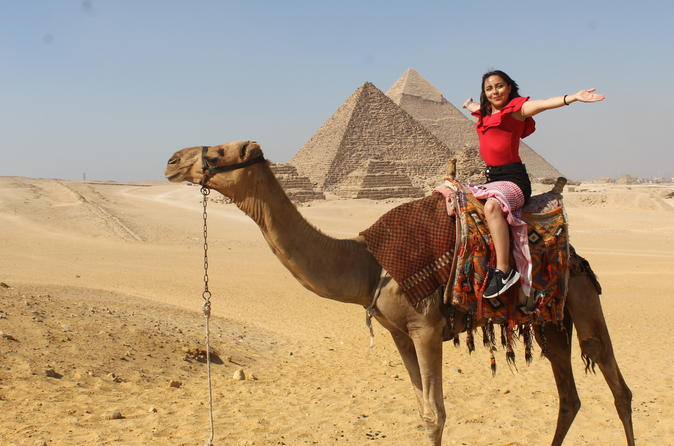 full day tour to Giza pyramids and Memphis and sakkara