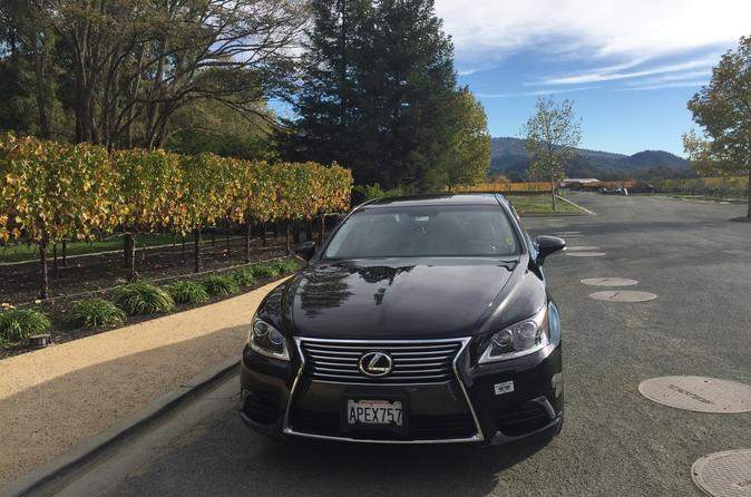 Private Lexus Sedan Napa Valley Wine Country Tour