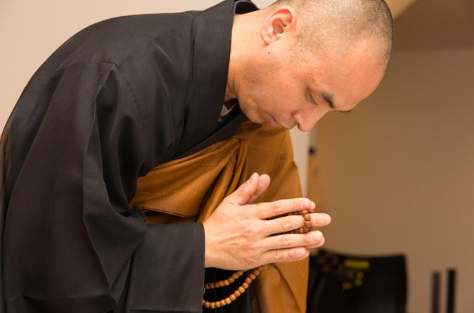 Zen Meditation and Buddhist Ceremony Led by Monk in Tokyo