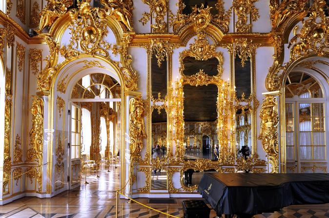 St.Petersburg Skip-The-Line Private Tour: Catherine's Palace with Amber Room in Tsarskoye Selo