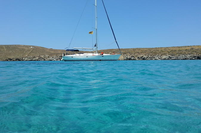 Small group full day sailing yacht cruise to delos and rhenia islands in m konos 272722