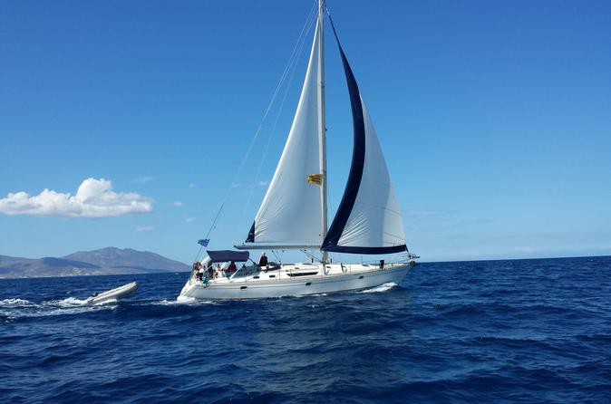 Small group full day sailing yacht cruise to rhenia island in m konos 264304