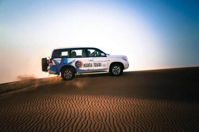 Dubai Evening Desert Safari with Dune Bashing, Camel Riding and BBQ Dinner