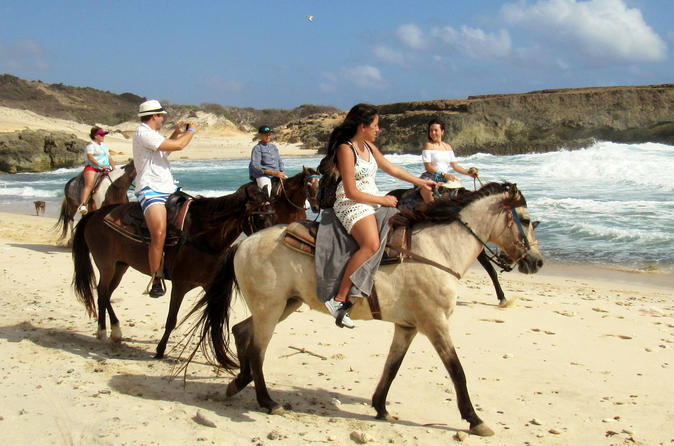 aruba natural pool horseback riding tour 2019