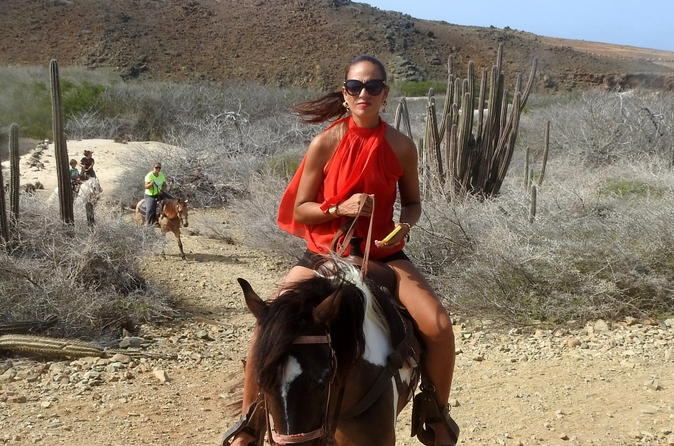 Aruba Shore Excursion:  Natural Pool Swim Horseback Riding