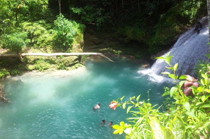 Day Trip to Blue Hole and Dunn's River Falls from Falmouth