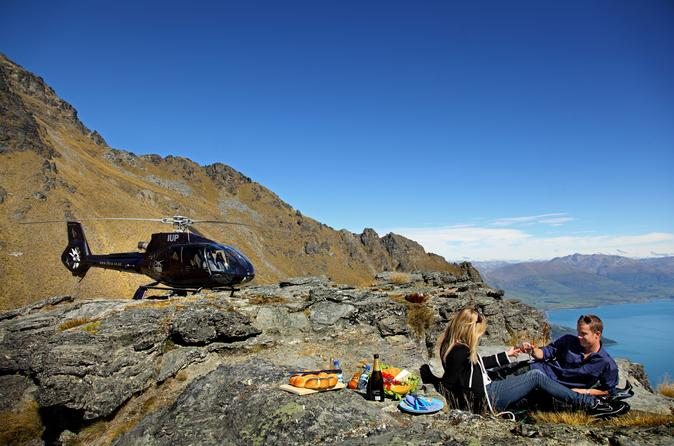 Private Champagne Picnic on Cecil Peak with Helicopter Ride