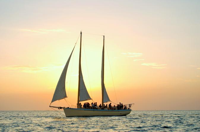 Small group sunset sail with wine in key west 185046