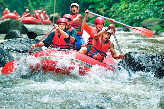 Half-Day White River Rafting from Bali including Buffet Lunch and Transfers