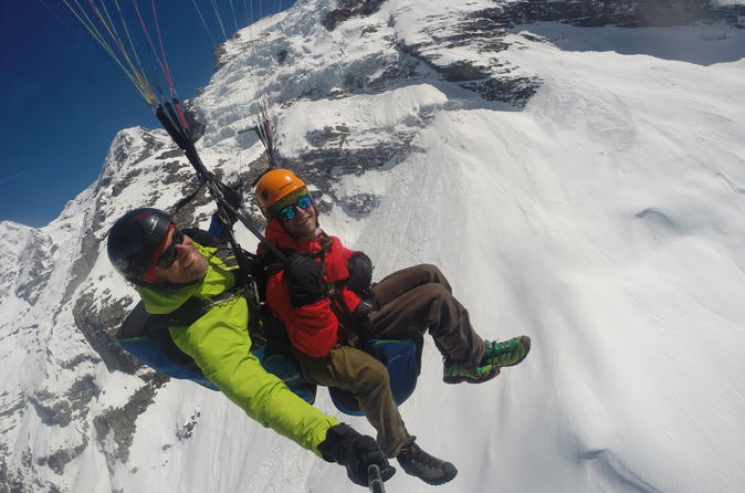 Paragliding Over The Swiss Alps From Lauterbrunnen