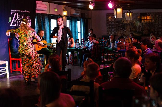 Show de flamenco no Jardines de Zoraya, Granada
