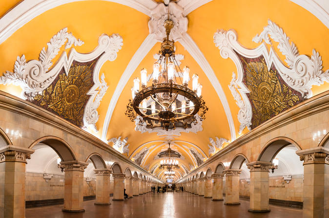 Metro Tour and Moscow River Cruise