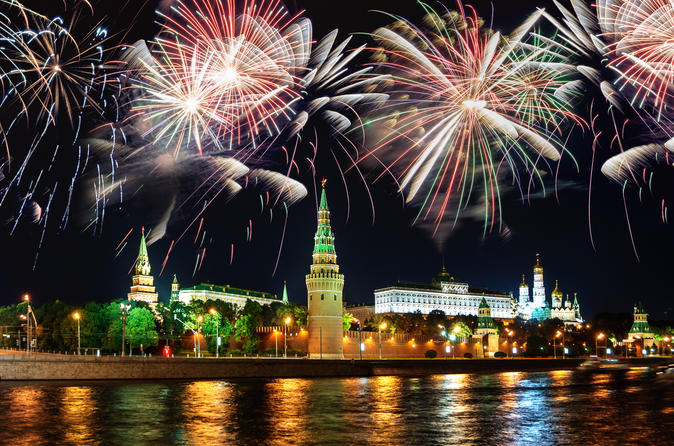 Moscow River Cruise with Dinner and Lively Firework with a Private Guide