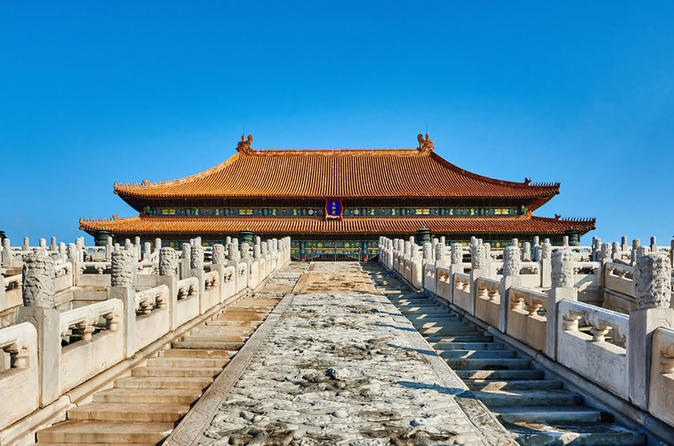 3 Hours Beijing Walking Tour! Tiananmen Square, Forbidden City under blue sky