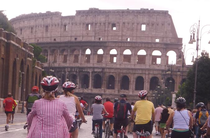 Private Tour of Ancient Rome by Bicycle including Skip-the-Line Colosseum and Bath of Caracalla Tickets