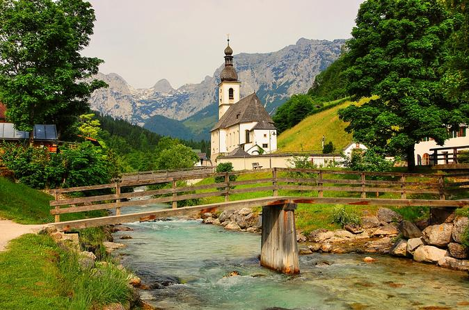 Eagle's Nest, Berchtesgaden and Ramsau with famous church and lake