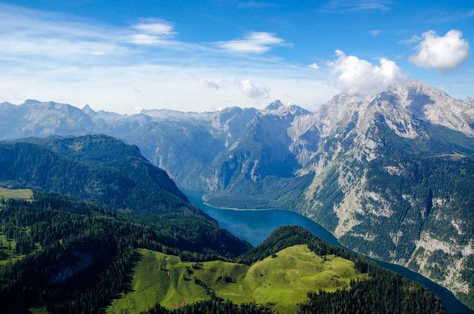 Eagle's Nest, Berchtesgaden, Golling Waterfalls and emerald green Lake Fuschl