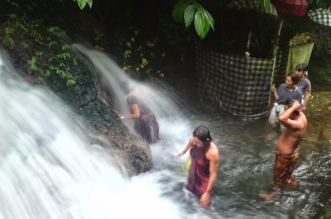 Balinese Ritual Bathing Experience at Waterfall Temple