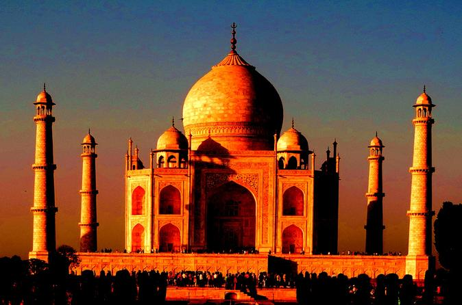 Overnight Sunset and Sunrise Taj Mahal Trip from Delhi