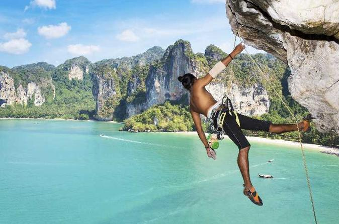 Half Day Rock Climbing Tours at Railay Beach in Krabi