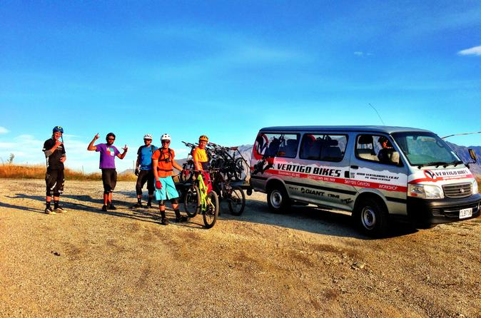 Mountain Bike Trails Including Shuttle Transfer from Queenstown
