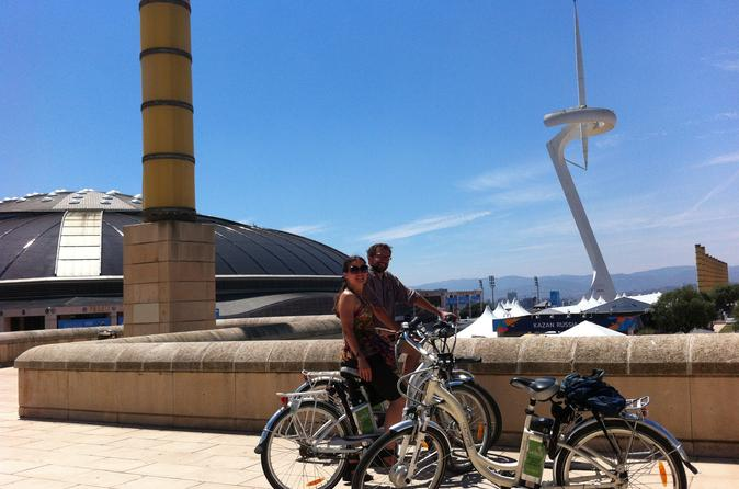 Barcelona Electric Bike Tour: from Montjuic Hill to Barceloneta