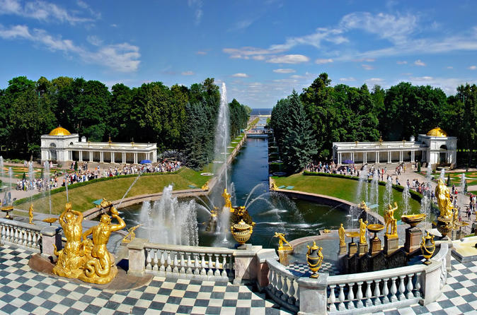 St Petersburg Visa Free Shore Tour of Hermitage and Grand Palace in Peterhof