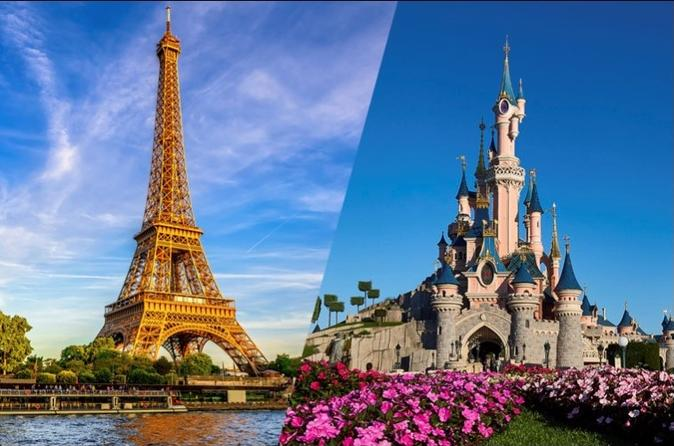 Eiffel Tower Priority Access Ticket with Host and Disneyland Paris Ticket