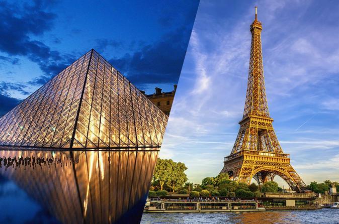 Ingressos Evite as filas: topo da Torre Eiffel e Museu do Louvre