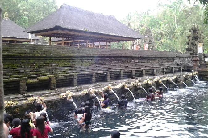 Excursão de dia inteiro na Ilha de Bali, incluindo Monte Batur o Vale Sagrado Floresta do Macaco e a 2 horas de tratamento de spa