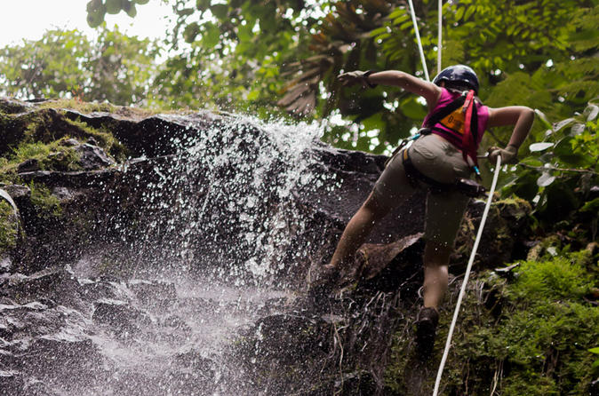 Sky Adventures Arenal Park Tour Including Ziplines Canyoning And Rappelling