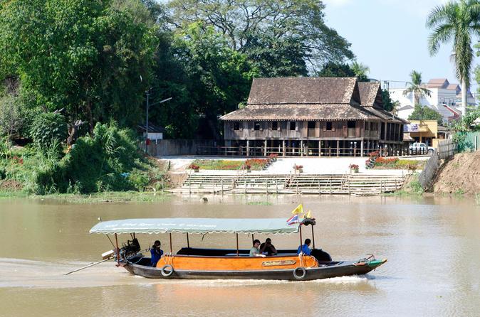 Excursão de barco de meio dia pelo Rio Mae Ping em Chiang Mai, incluindo almoço em fazenda