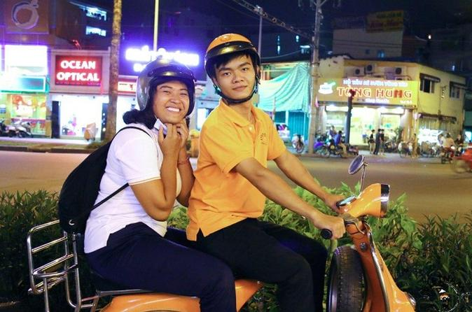 Ho Chi Minh City Saigon After Dark Tour by Vespa in Vietnam Asia