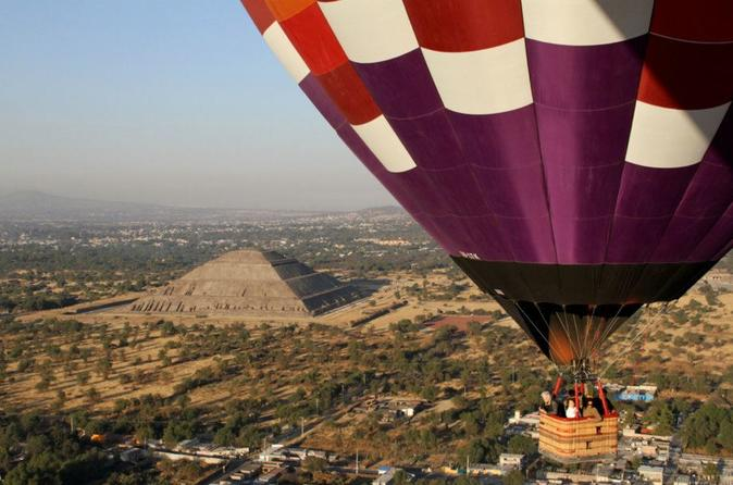 Teotihuacan hot air balloon ride with optional bike or walking tour in mexico city 349714